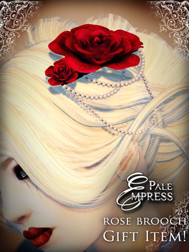 Pale Empress rose brooch freebie