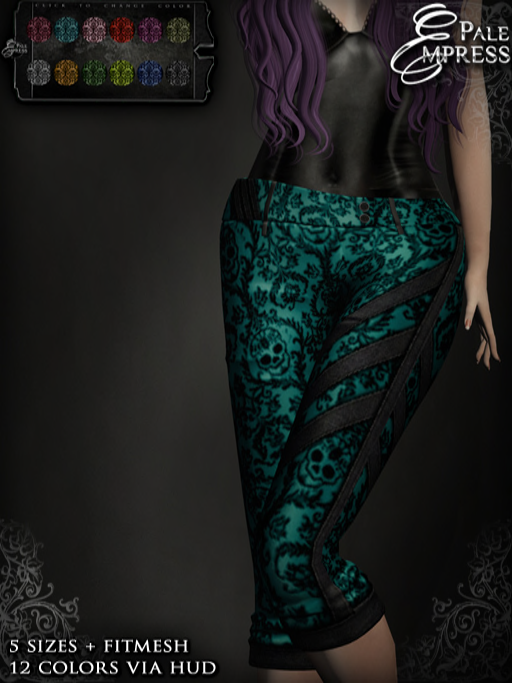 Pale Empress ~ Diesel Capri Pants  ~ Muerte